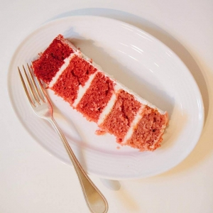 Pink Layers of Cake Slice